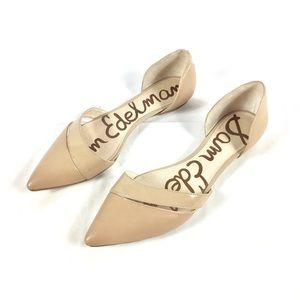 Sam Edelman D'orsey tan pointy toe flats size 7.5